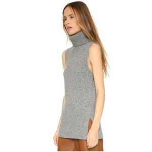 Club Monaco Keoki Speckled Sleeveless Turtleneck